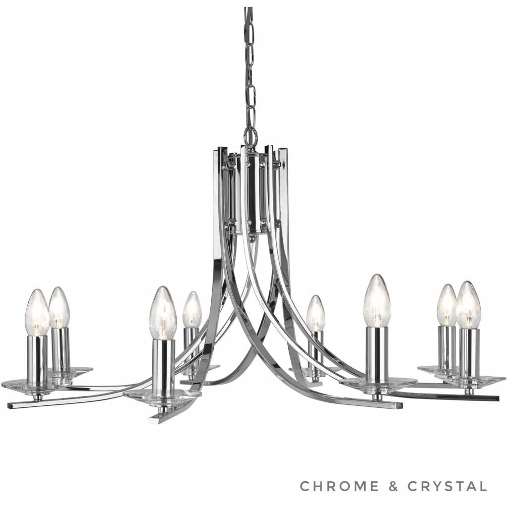 Ascona 8 Light Chandelier Polished Chrome