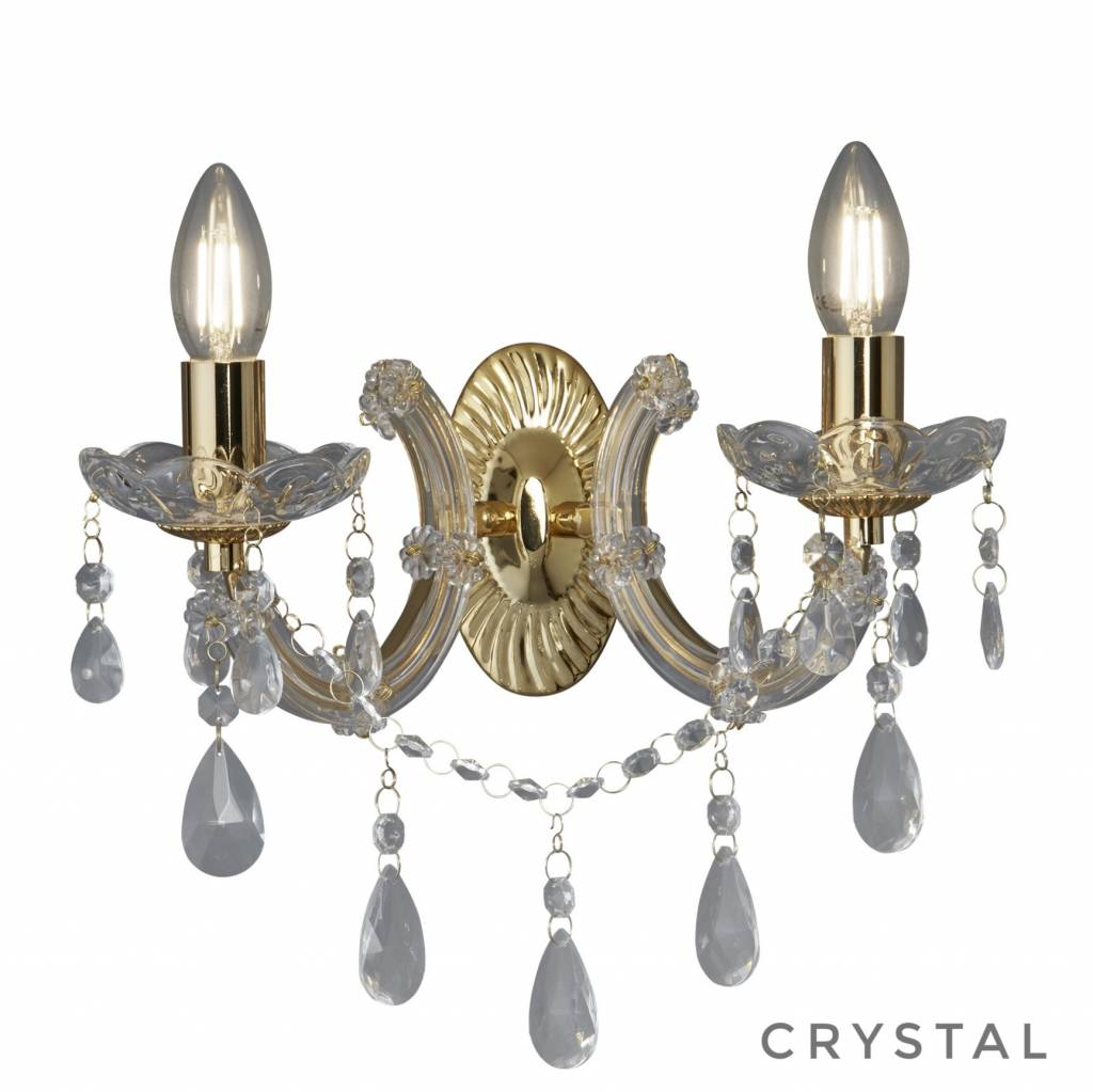 Marie Theresa Classic Crystal Chandelier Wall Light Polished