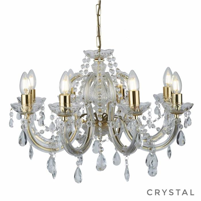 Marie Theresa - Classic Crystal 8 Light Chandelier