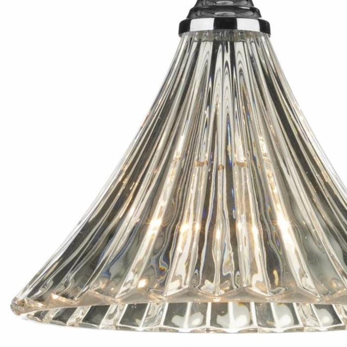 Fluted Clear Glass Pendant - Small