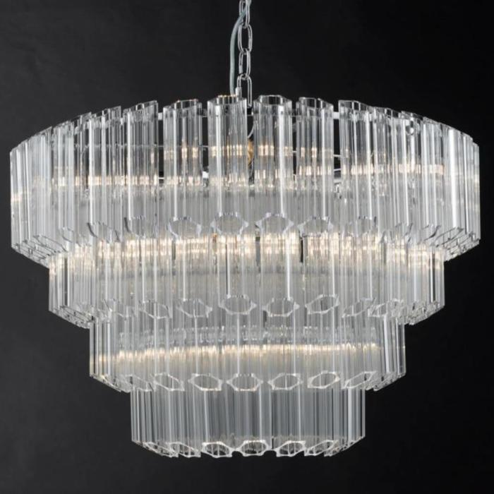 Tuvalu - Art Deco Crystal Feature Light