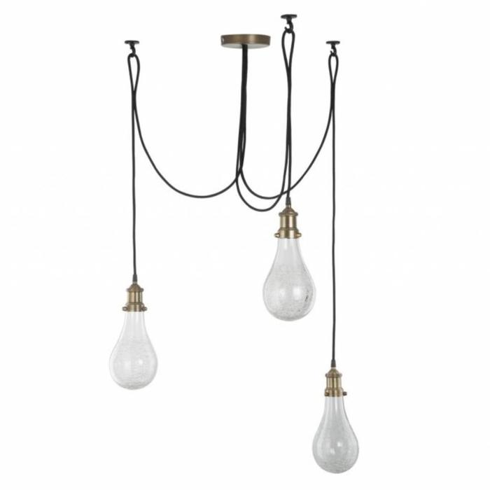 Mozelle  - Antique Brass Industrial Cluster Pendant