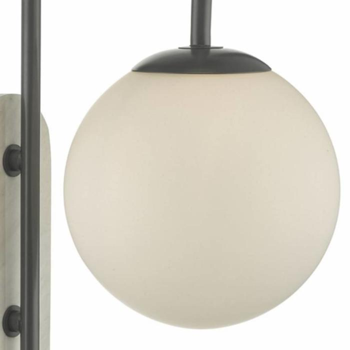 Deuce - Grey & Marble effect Wall Light - IP44 Bathroom