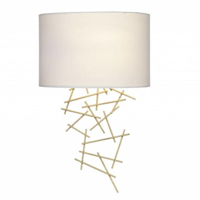 Cevero - Hand applied Gold leaf feature wall light