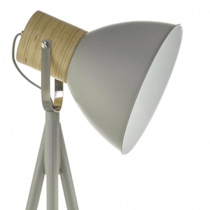 Adna - Grey & Wood Floor Lamp