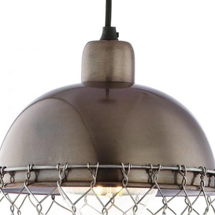 Izna - Grey Metal & Cage Industrial Pendant