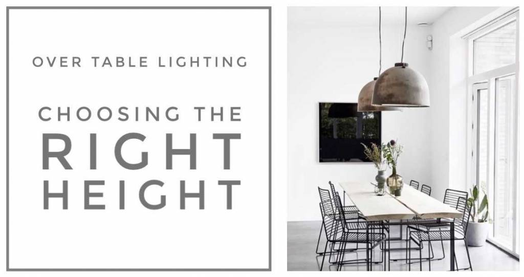 "The ""Correct"" Height for Dining Room Lighting"