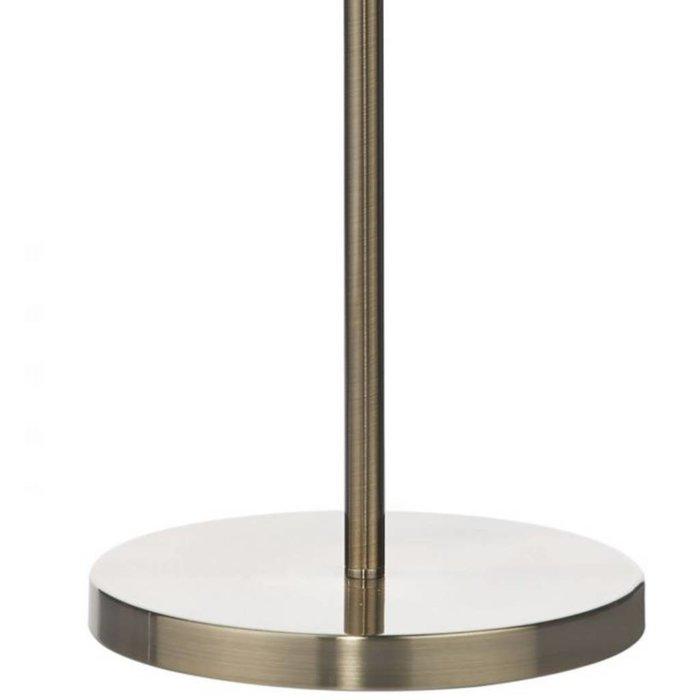 5 Light Beaded Ball Floor Lamp - Antique Brass