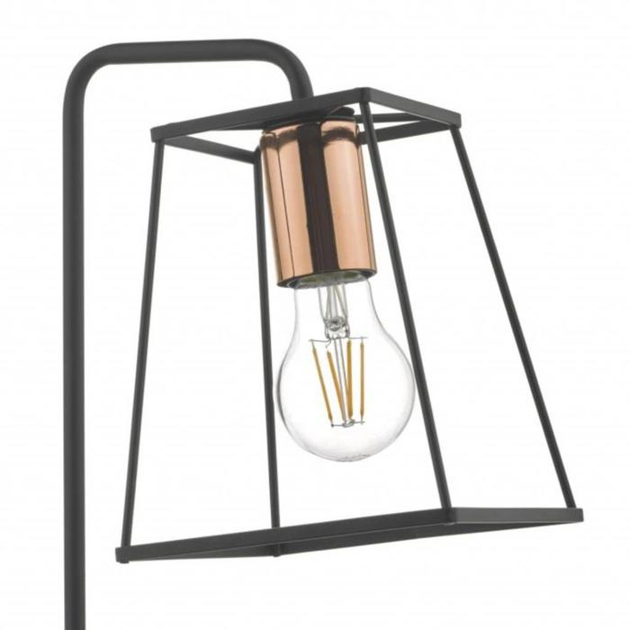 Towers - Black Cage Table Lamp