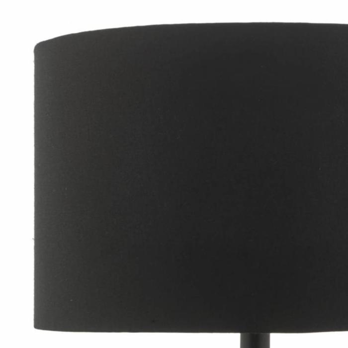 Kolto - Gold Ceramic Table Lamp with Black Satin, Gold Lined Drum Shade