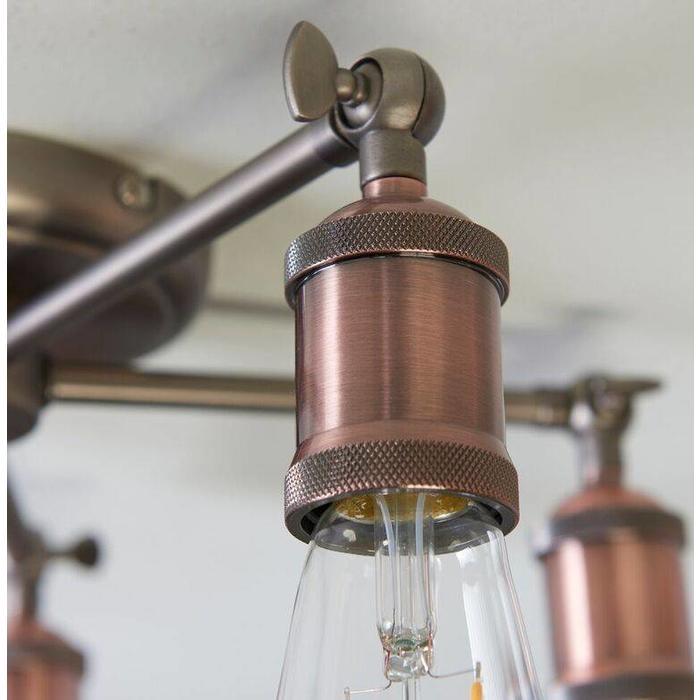 Vintage - 5 Light Semi Flush Fitting