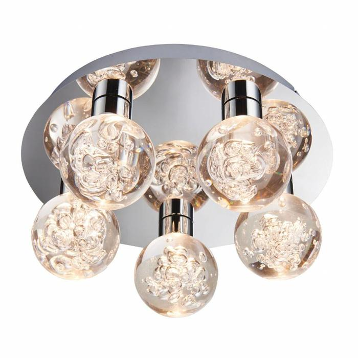 Versai - 5 Light Flush LED IP44 Bathroom Light