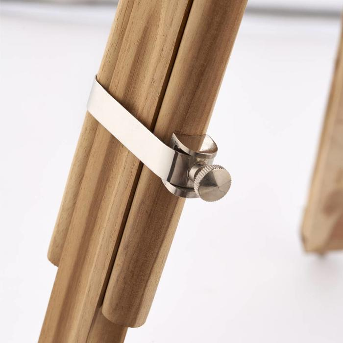 Teak Wood Tripod Floor Lamp - Base Only