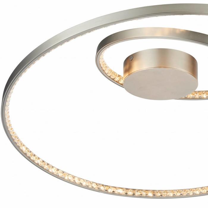 Etta - Modern LED Crystal Rings - Semi-Flush - Matt Nickel