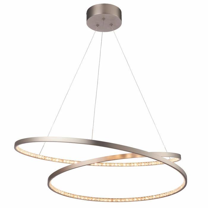 Etta - Modern LED Crystal Rings - Feature Pendant - Matt Nickel