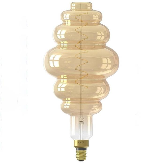 Beehive - Giant Decorative LED Light Bulb - Gold