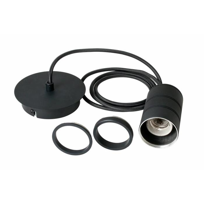 Decorative LED Suspension Kit - Matt Black - Chunky Industrial Lampholders