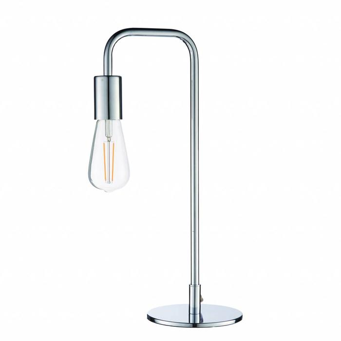 Rubin - Mid Century Stick Table Lamp - Polished Chrome