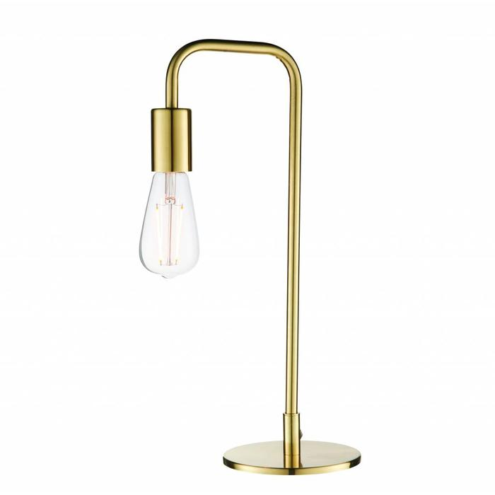 Rubin - Mid Centry Stick Table Lamp - Brass