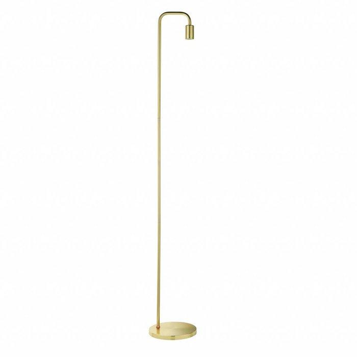 Rubin - Mid Century Stick Floor Lamp - Brass