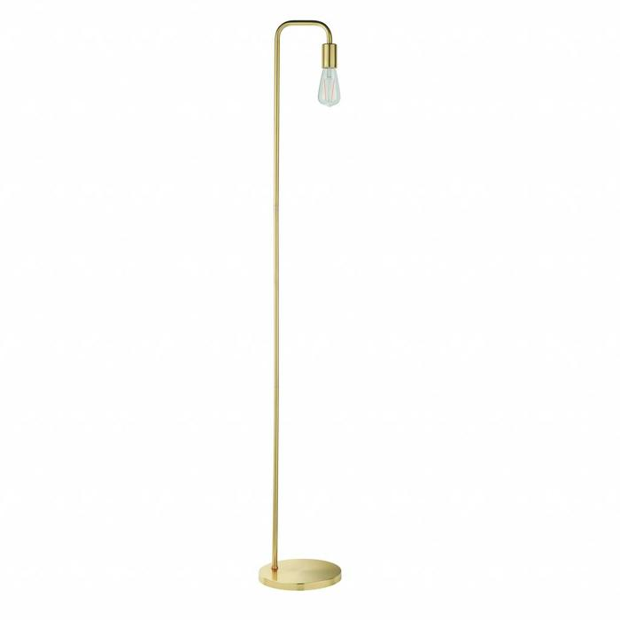 Rubin - Mid Century Stick Floor Lamp - Brass