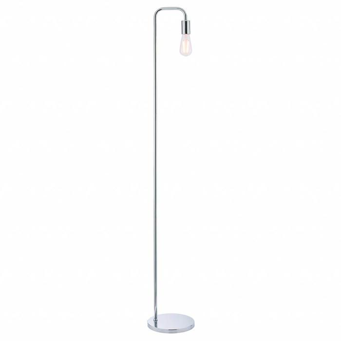Rubin - Mid Century Stick Floor Lamp - Polished Chrome
