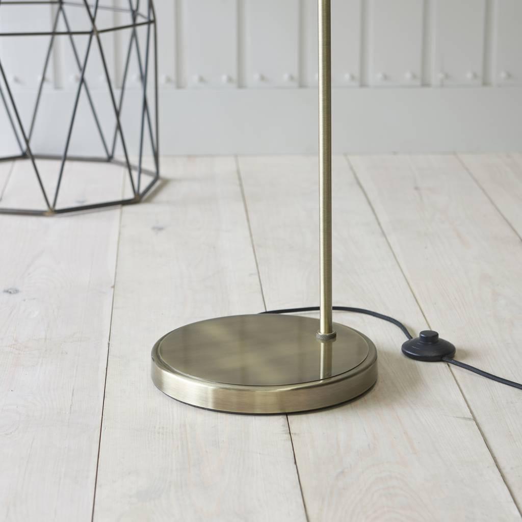 Industrial Glass Floor Lamp Antique Brass Lightbox