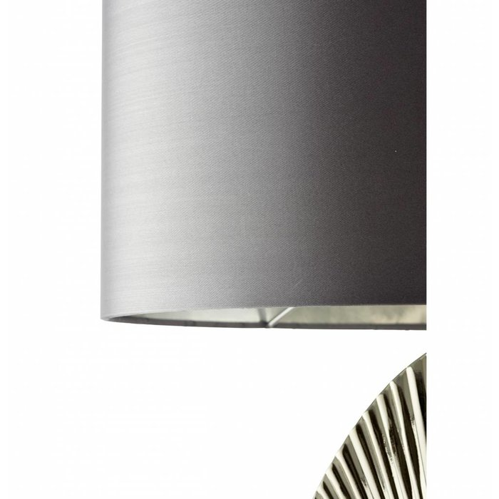 Delo - Decorative Table Lamp with Grey Oval Shade