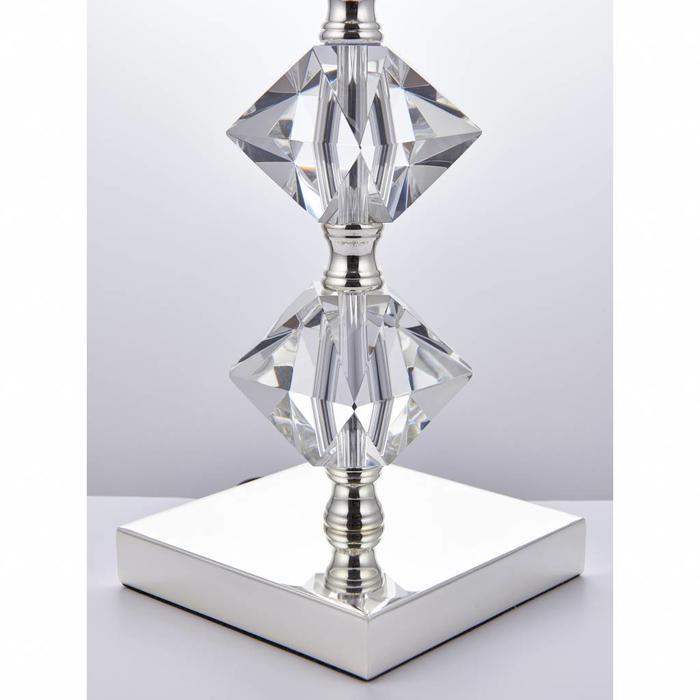 Mardon - Crystal Table Lamp with Mink Faux Silk Shade