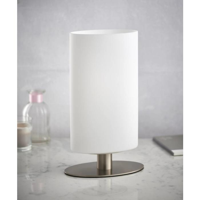 Palmer - Oval Touch Table Lamp - Satin Nickel