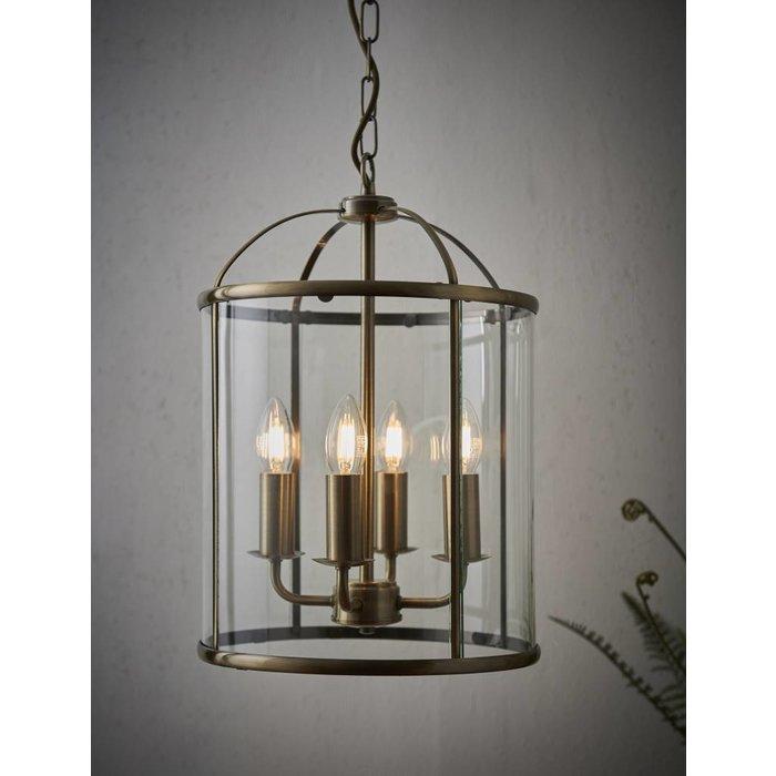Lambet - Glass & Antique Brass Lantern - Large