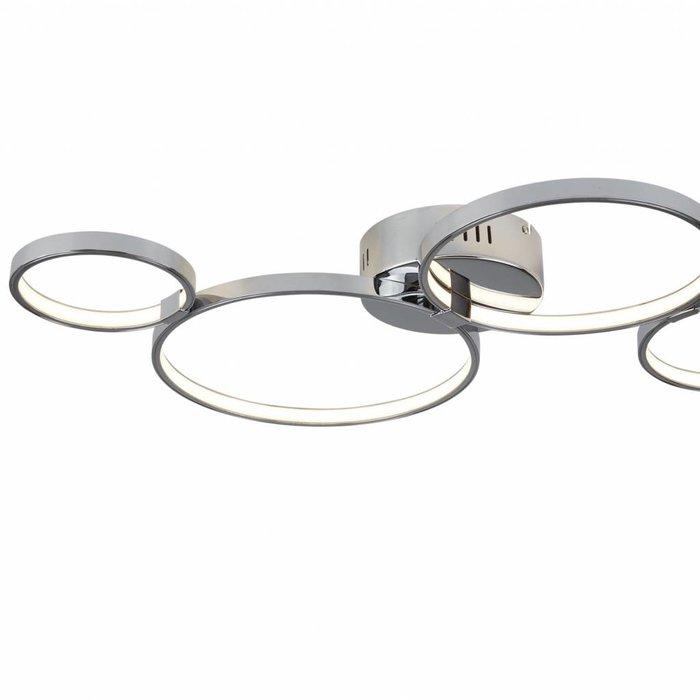 Cyber - Flush Modern LED Rings Ceiling Fitting - Polished Chrome
