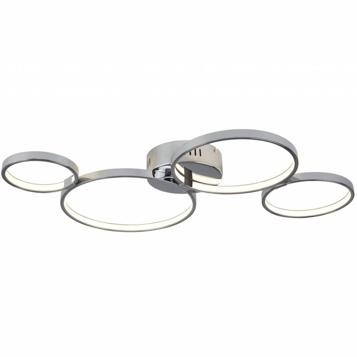 Cyber - Flush Modern LED Rings Ceiling Fitting - Polished Chrome