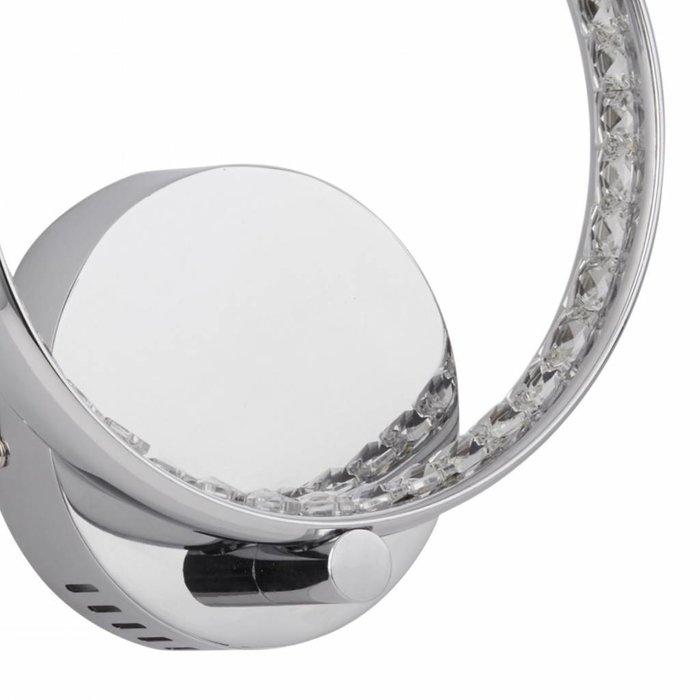 Realto - Crystal covered LED  Ring Wall Light - Polished Chrome