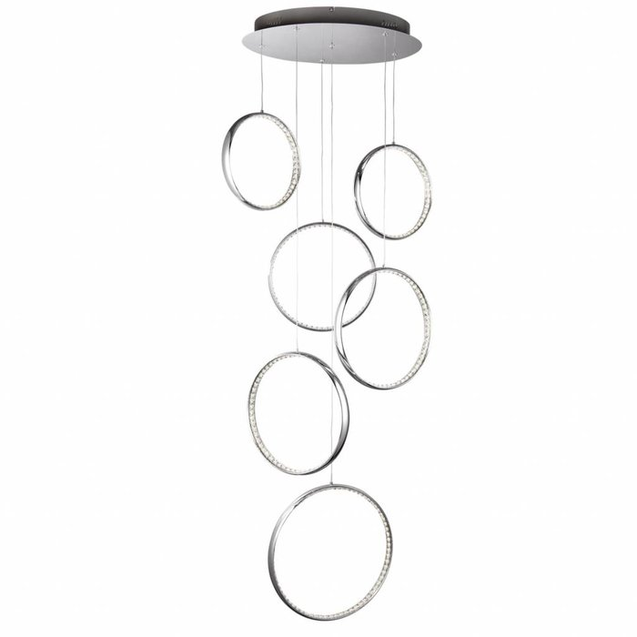 Realto - Multi-drop Crystal Ring Cascading Feature Light