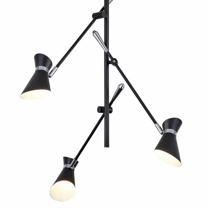 Angelo - Adjustable LED Semi-Flush Modern Spotlights - Matt Black & Chrome