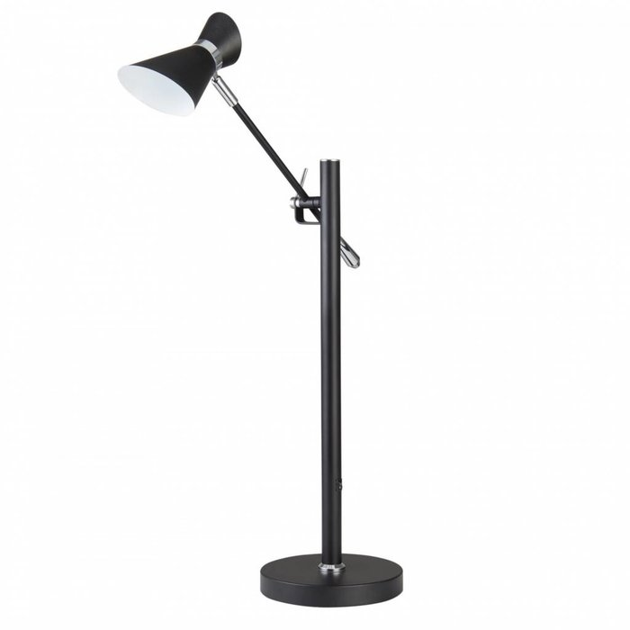 Angelo - Adjustable LED Spotlight Desk Lamp - Matt Black & Chrome