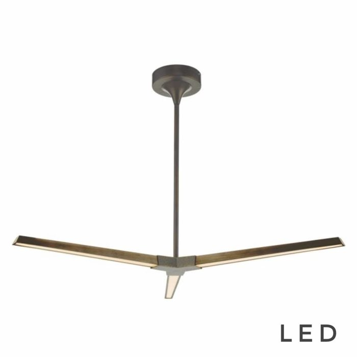 Rotary - Modern Bronze LED 3 Light Ceiling Fitting