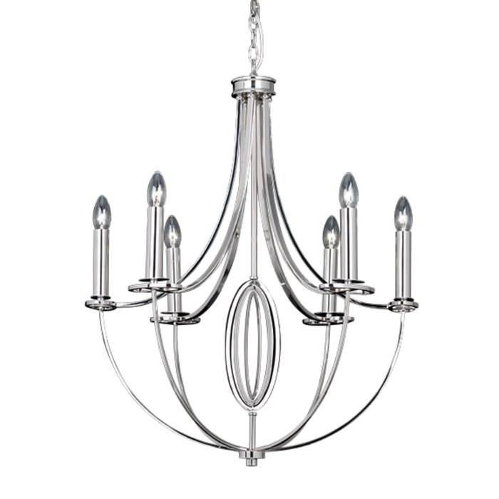Whistler - Large Classic Multi-Armed Chandelier - Polished Nickel