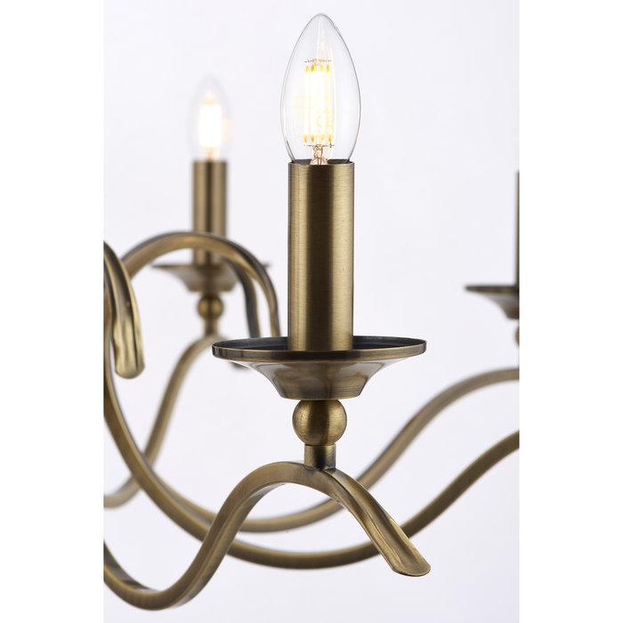 Coralline - 8 Light Antique Brass Chandelier