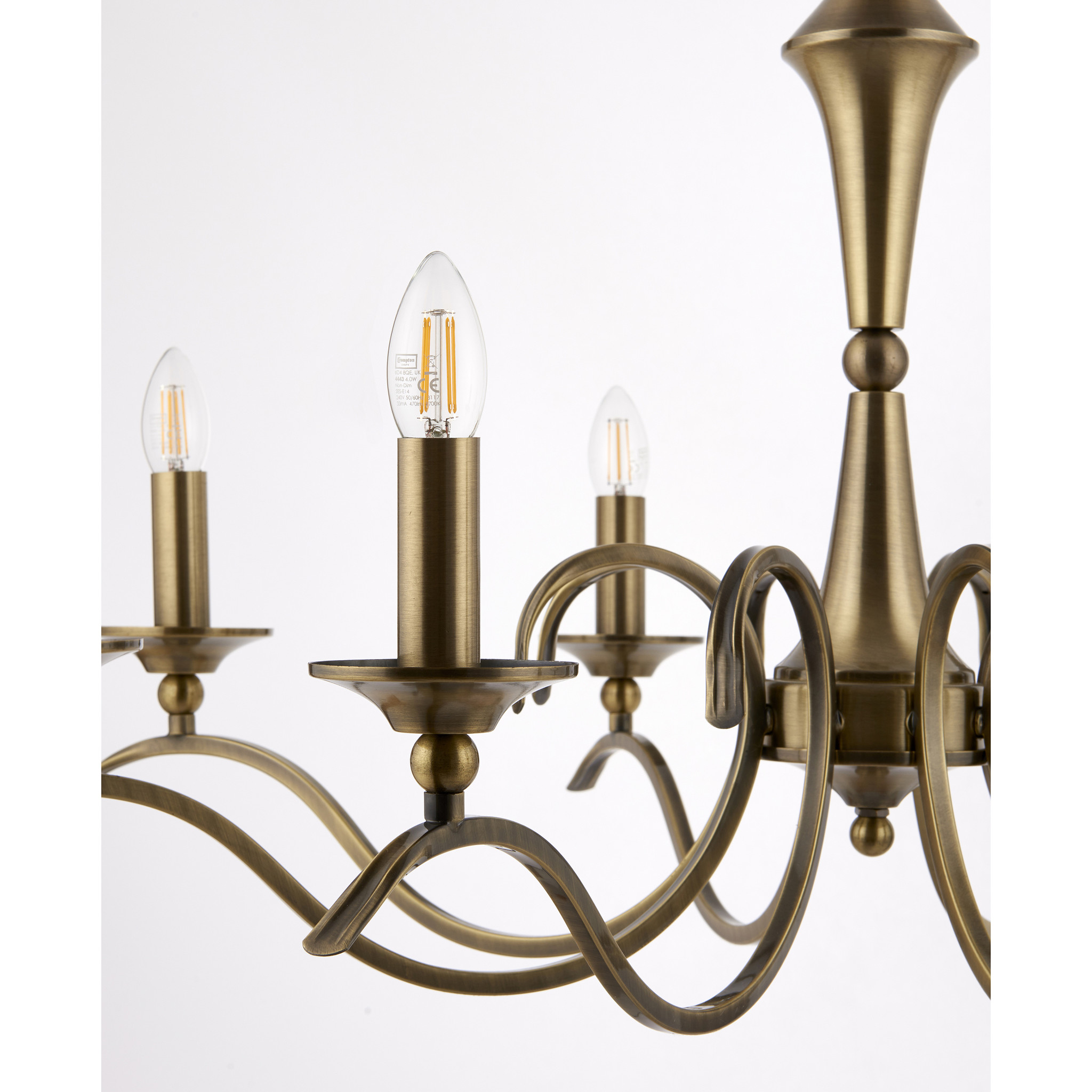 Coralline 8 Light Antique Brass Chandelier Lightbox