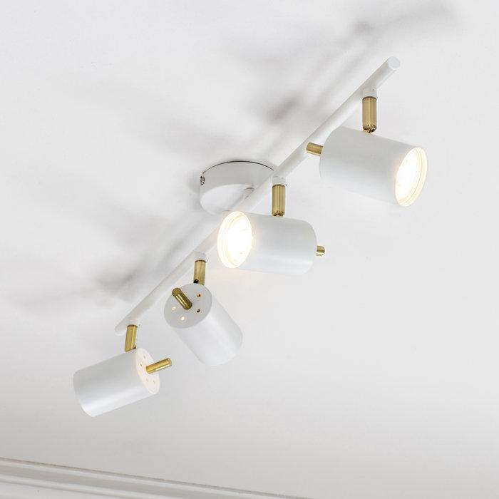 Kit - LED Spotlight - 4 Bar - Matt White & Satin Gold