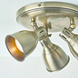 Country - Industrial LED Spotlight - 3 Light Round - Antique Brass