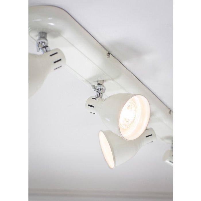 Country - Industrial LED Spotlight - 4 Light Bar - Gloss Ivory
