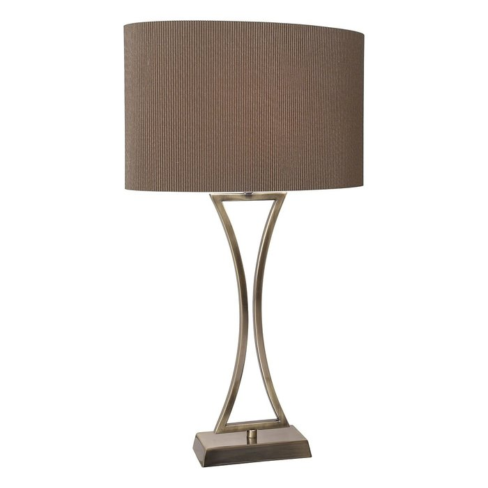 Art Deco Chrome Table Lamp - Antique Brass