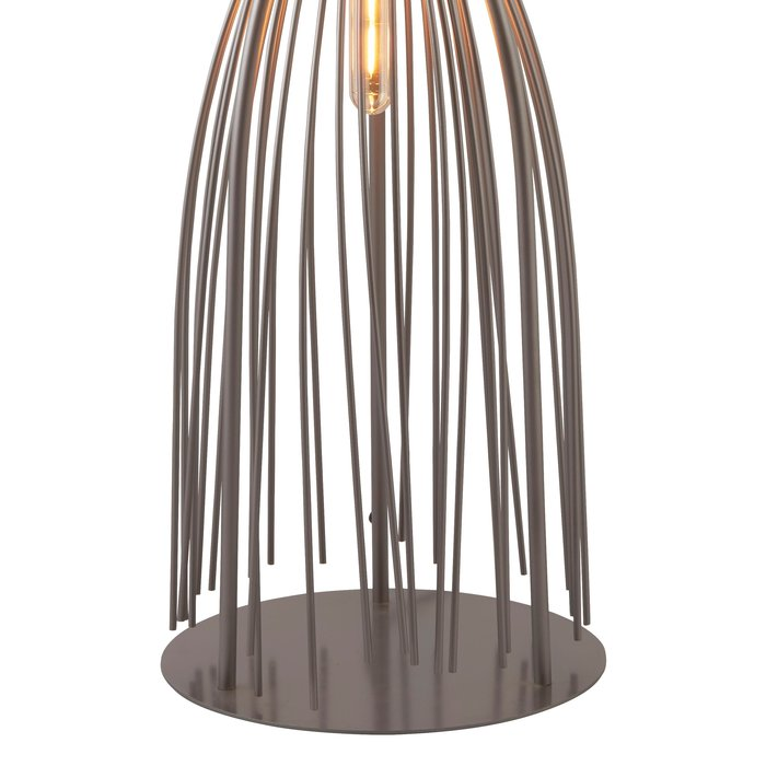 Large Twisted Cage Table Lamp - Grey