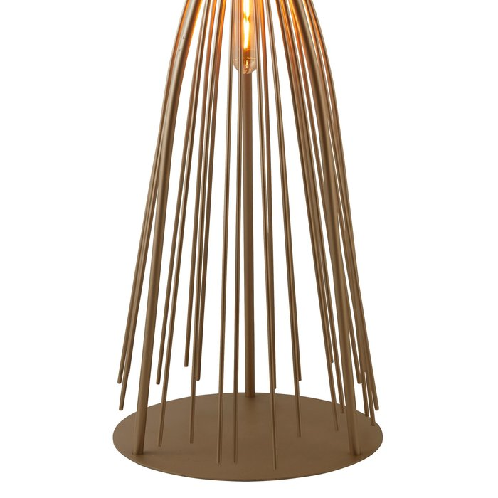 Large Twisted Cage Table Lamp - Champagne