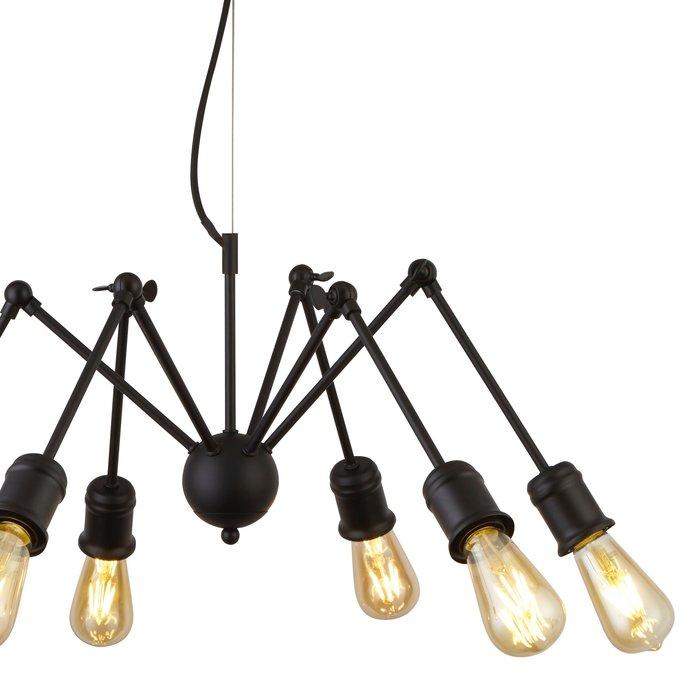 Spiderette - 6 Light Industrial Feature Light - Matt Black