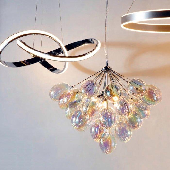 Infinite - 6 Light Iridescent Glass Pendant