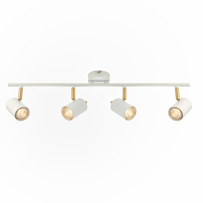 Kit - LED Spotlight - 4 Bar - Matt White & Satin Gold
